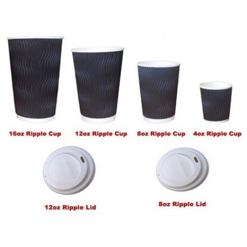 Triple Wall Paper Coffee Cups Lids
