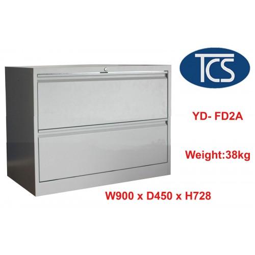 2 Drawer Lateral Metal Filing Cabinet